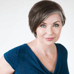 Portrait photo of Julie Michaud, owner of Prettyology Permanent Makeup Salon in Boston