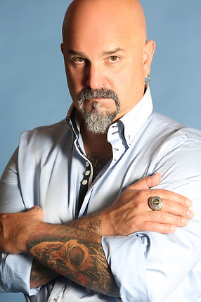 Lou Rubino, Jr. portrait, owner and CEO of World Famous Inks, one of the leading innovators in tattoo ink, including vegan tattoo ink formula