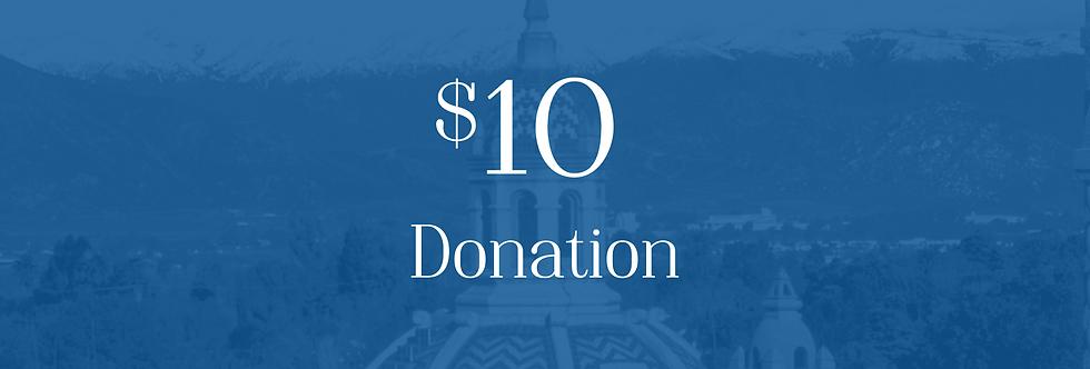 Donation $10