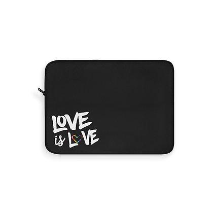 Love is Love™ Black Laptop Sleeve