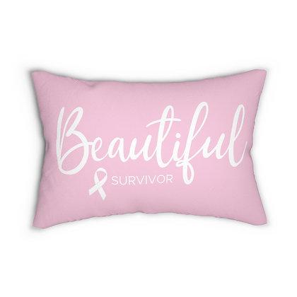 Copy of Beautiful Survivor™ Pink Lumbar Pillow