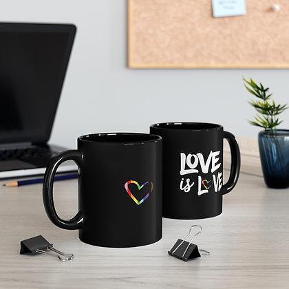 Love is Love™  Left Handed LOVE + MOD Mug 11oz.