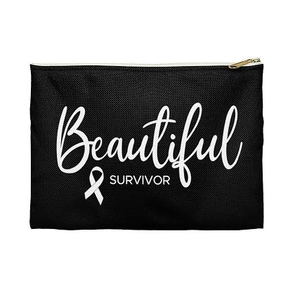 Beautiful Survivor™ Black Accessory Pouch