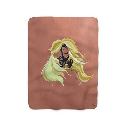 Toxic Girl Sherpa Fleece Blanket