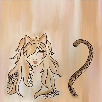 Miss Kitty Microfiber Duvet Cover