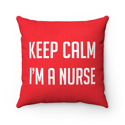 Nurse Girl™ KEEP CALM Faux Suede Pillow