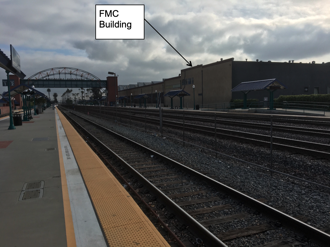 Figure 7 FMC Building East of Metrolink Tracks, Under Threat (Photograph Courtesy of the Author)