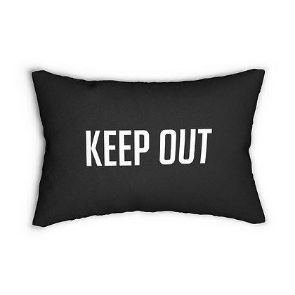 Toxic Girl™ KEEP OUT Lumbar Pillow