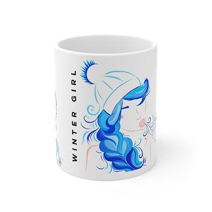 Winter Girl Mug 11oz
