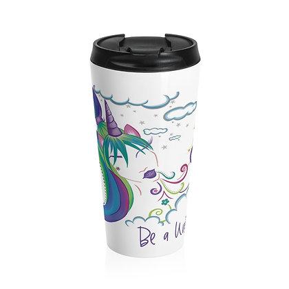 Unicorn Girl Stainless Steel Travel Mug