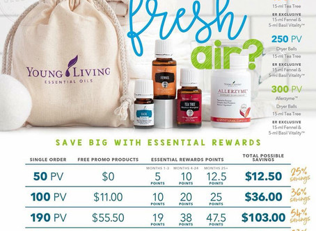 🌱APRIL 2018 YOUNG LIVING PROMO🌷