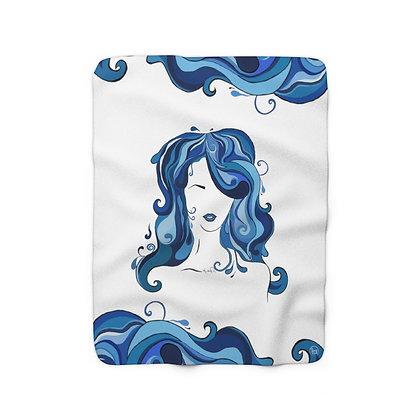 Water Girl Sherpa Fleece Blanket