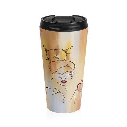 Teacher Girl Stainless Steel Travel Mug