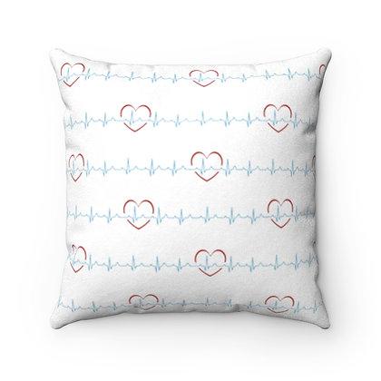 Nurse Girl™ EKG Faux Suede Pillow