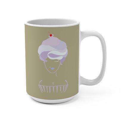 Cupcake Girl Coffee Mug 15oz