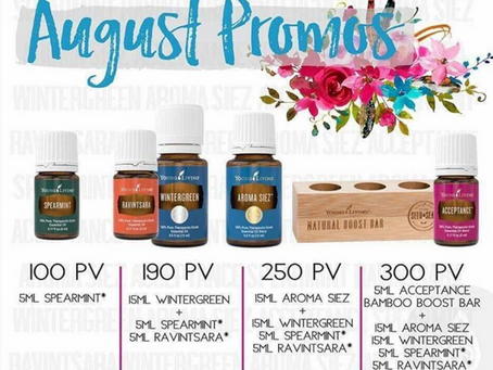 AUGUST 2018   PROMOS