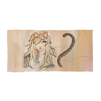 Miss Kitty Beach Towel