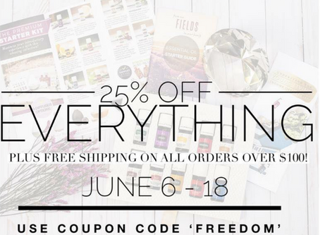 25% OFF EVERYTHING! JUNE 6-18