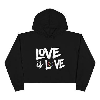 Love is Love™ RAINBOW LOVE Crop Hoodie