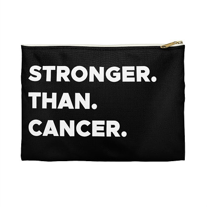 Stronger Than Cancer™ Black Accessory Pouch