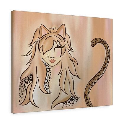 Little Miss Kitty Canvas