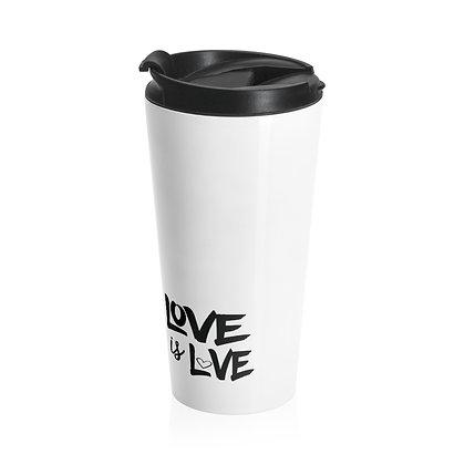 Love is Love™ LOVE + STRIP Travel Mug