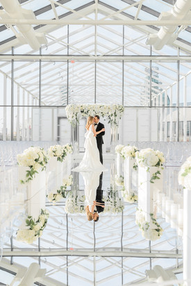 Modern Green & White Wedding