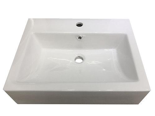 Sink - Ceramic Artistic Vessel White - Rectangle