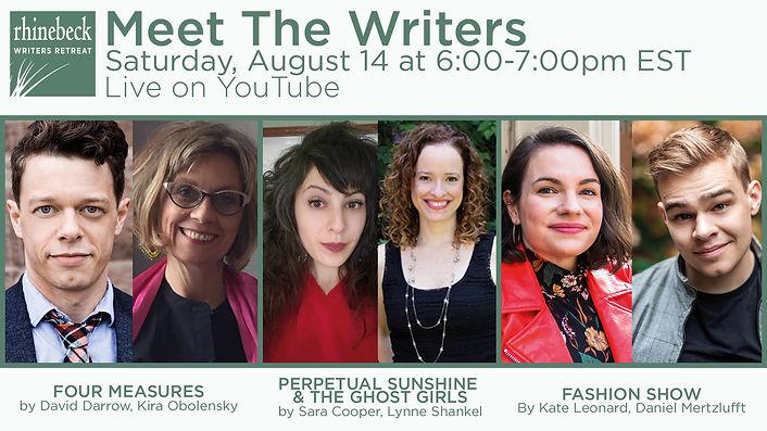 Rhinebeck Writers Retreat Meet the Writers 2021, David Darrow, Kira Obolensky, Sara Cooper, Lynne Shankel, Kate Leonard, Daniel Mertzlufft
