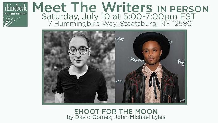Rhinebeck Writers Retreat Meet the Writers 2021, David Gomez, John-Michael Lyles