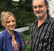Amanda Yesnowitz and Doug Katsaros The Peculiar History of Dr. James Barry Rhinebeck Writers Retreat 2018