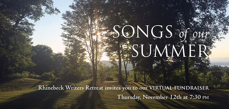 2020 Rhinebeck Writers Retreat Fundraiser, Virtual Fundraiser