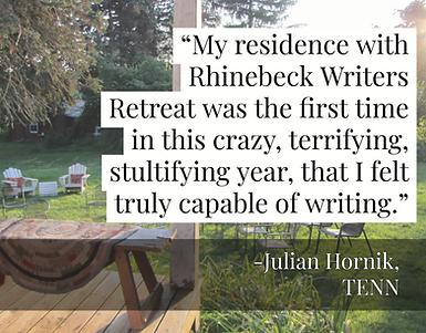 Rhinebeck Writers Retreat 2020 Virtual Fundraiser