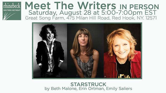 Rhinebeck Writers Retreat Meet the Writers 2021 Beth Malone, Erin Ortman, Emily Saliers, Indigo Girls, Broadway