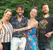 Zoe Roberts, Natasha Hodgson, David Cumming, and Felix Hagan, Operation Mincemeat, Rhinebeck Writers Retreat