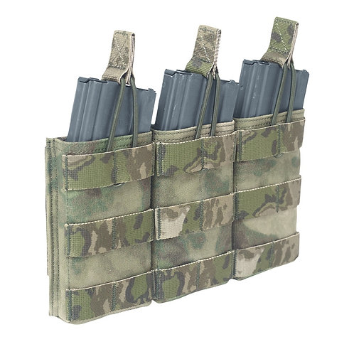 WARRIOR A.S. TRIPLE OPEN MAG POUCH M4/AR15