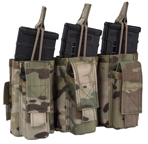 WARRIOR A.S. TRIPLE OPEN M4 & 9MM MAG POUCHES
