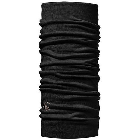Buff LIGHTWEIGHT MERINO WOOL SOLID BLACK
