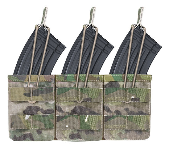 WARRIOR A.S. TRIPLE OPEN MAG POUCH AK47/74