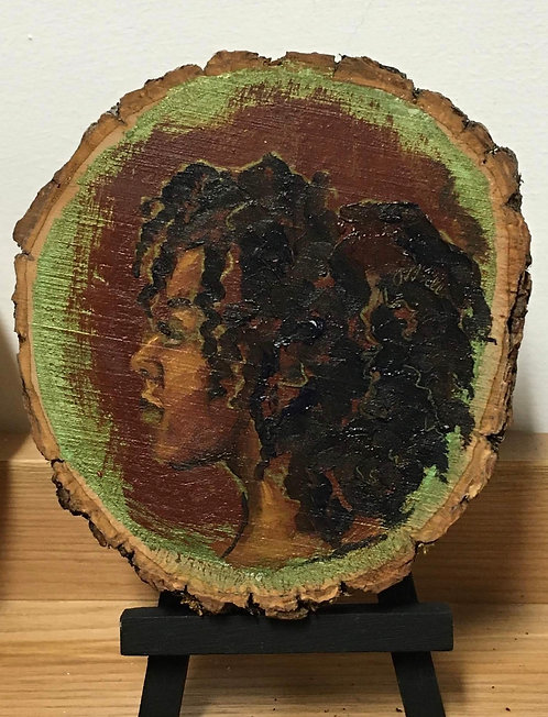Ivy- on natural wood