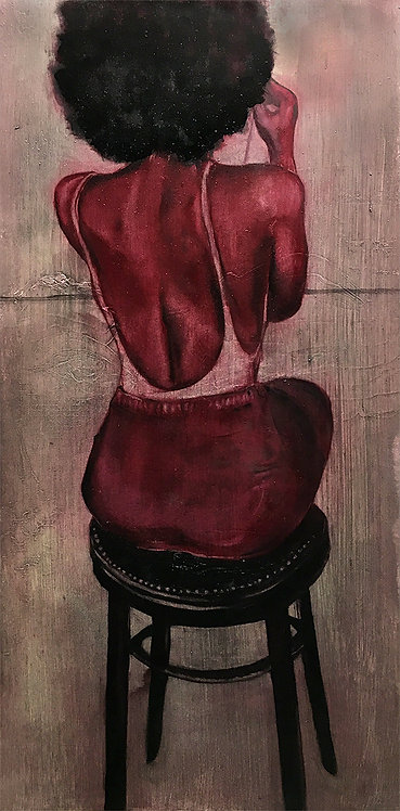 "GoHeadBeGone- 12 x 24"" Original Painting"