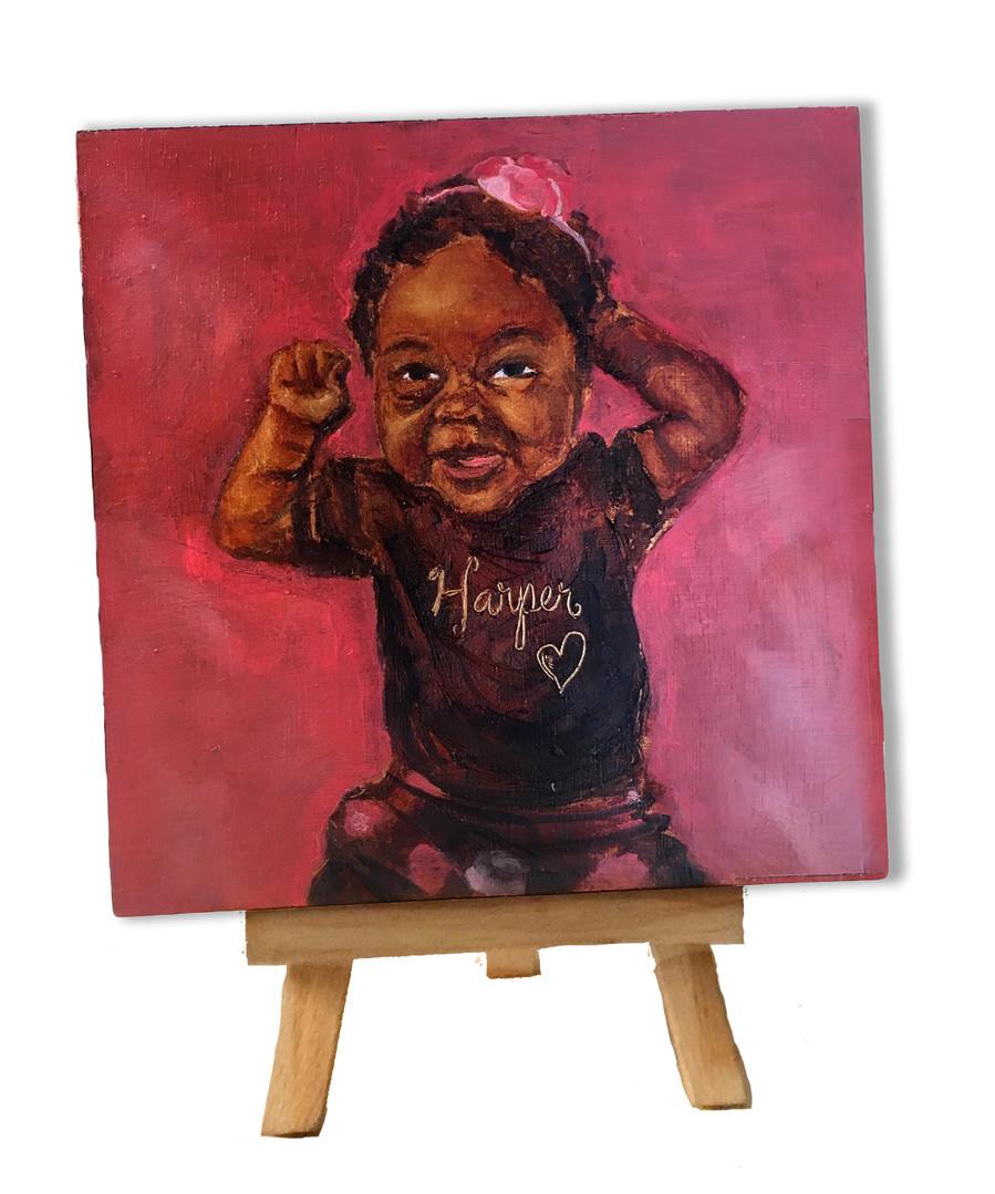 Harper MINI paint Commission baby art.jp