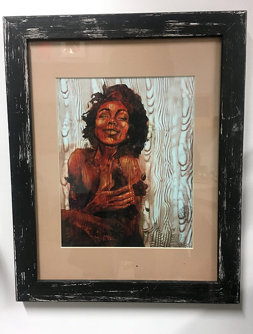 """Exclusive Unpaved in Rustic Black Frame (11x14"""")"""