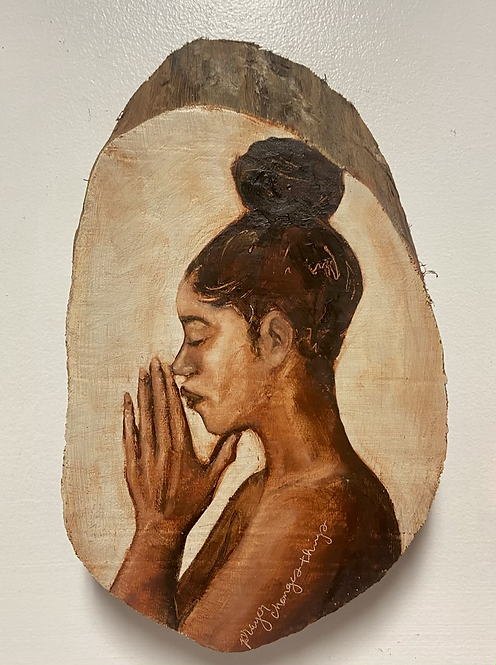 Prayer Changes Things  MINI profile #4- on natural wood