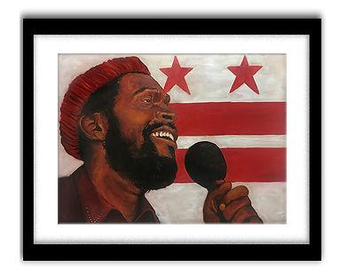 Marvin Gaye Painting- JNell Jordan Frame Templat