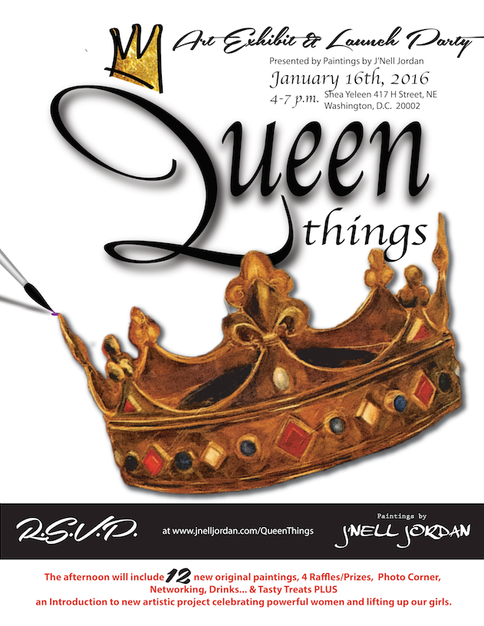 Upcoming Show:   Queen Things Art Exhibit & Launch Party