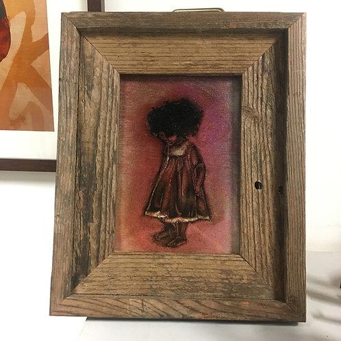 "Babyhair 8x10"" Reclaimed Wooden Frame"