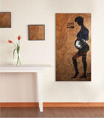 "Royal Womb 24"" x 48"" Canvas Print Reproduction"