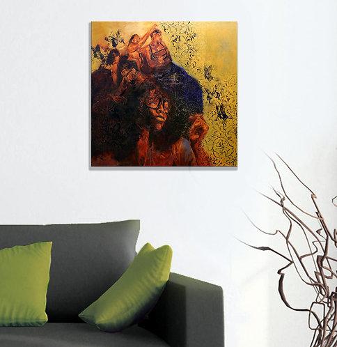 "Sky High Daze - 20"" x 20"" Canvas Print Reproduction"