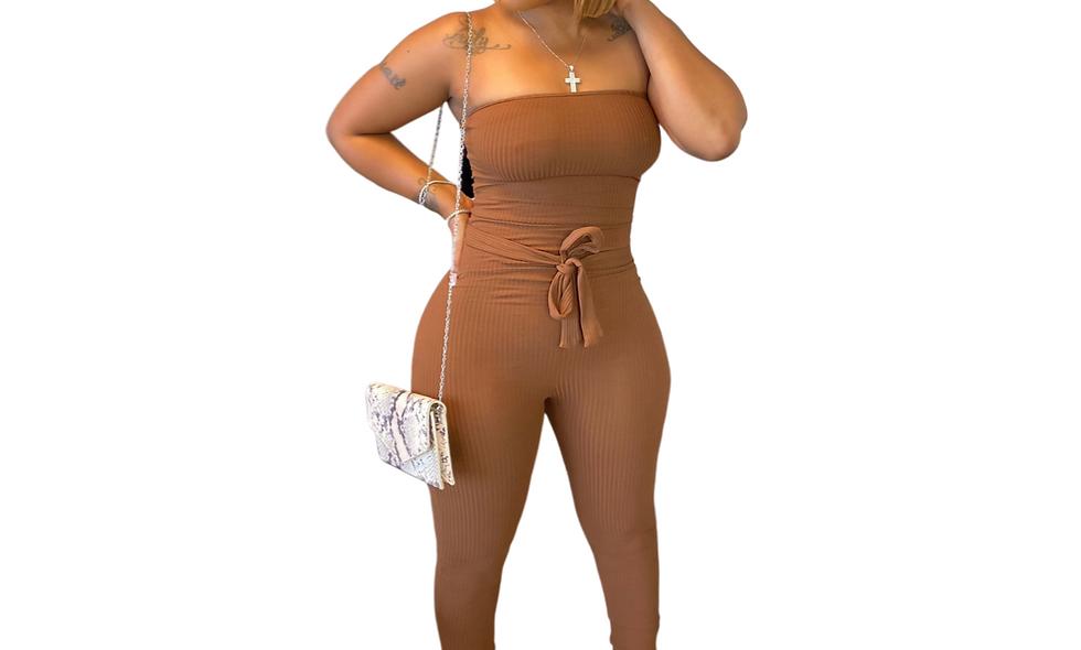 The Cassie Strapless Jumpsuit
